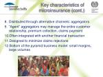 key characteristics of microinsurance cont