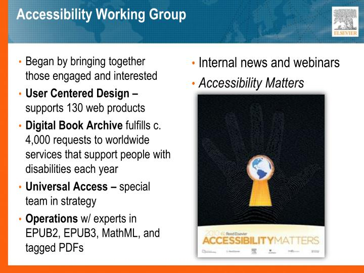 Accessibility working group