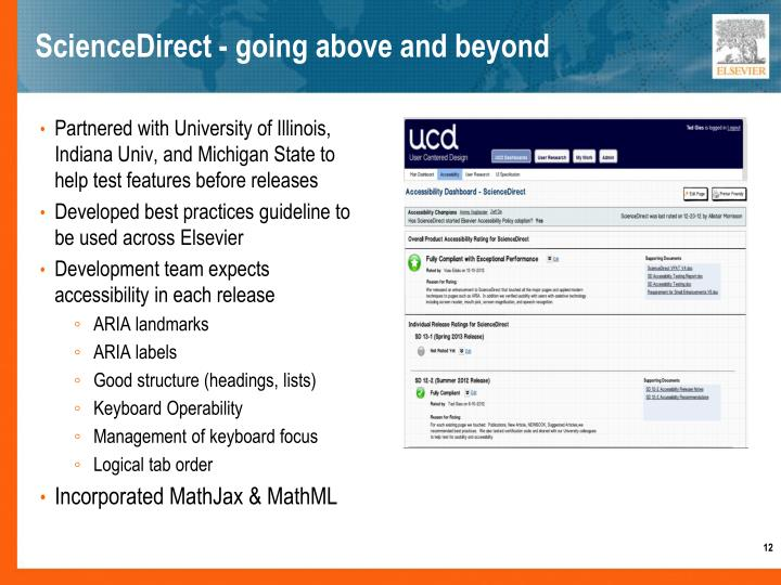 ScienceDirect - going above and beyond