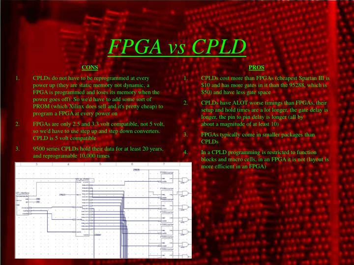 FPGA vs CPLD