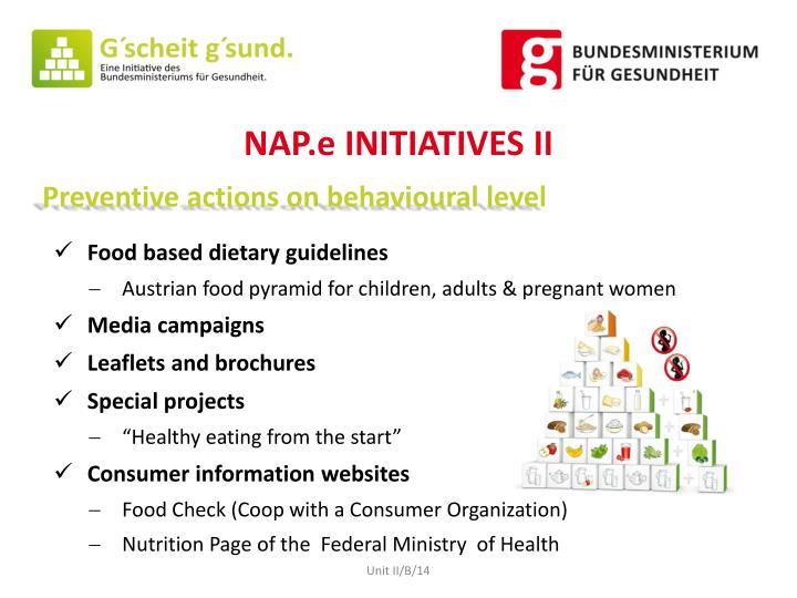 NAP.e INITIATIVES II