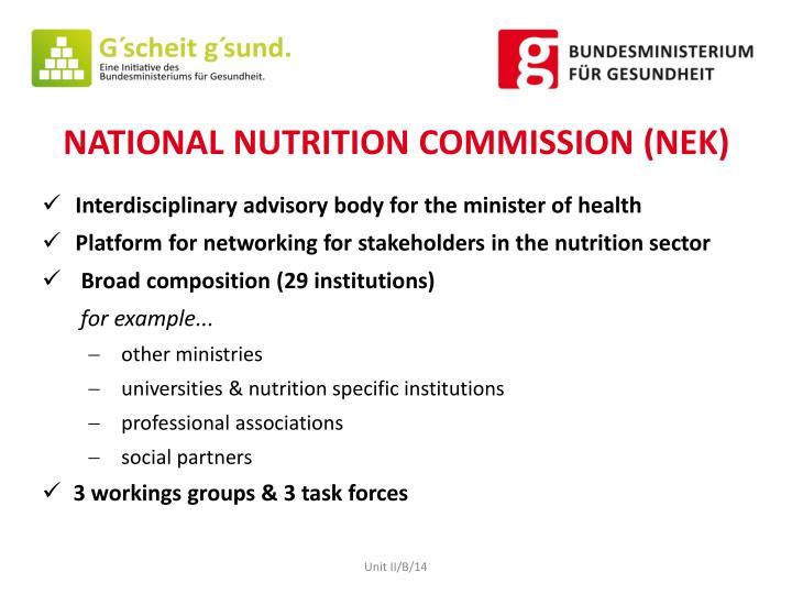NATIONAL NUTRITION COMMISSION (NEK)
