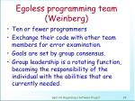 egoless programming team weinberg