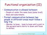 functional organization ii