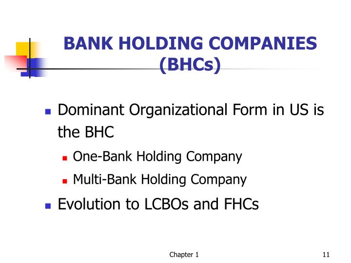 BANK HOLDING COMPANIES (BHCs)
