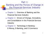 part 1 banking and the forces of change in the financial services industry