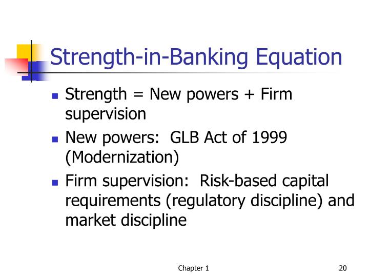 Strength-in-Banking Equation
