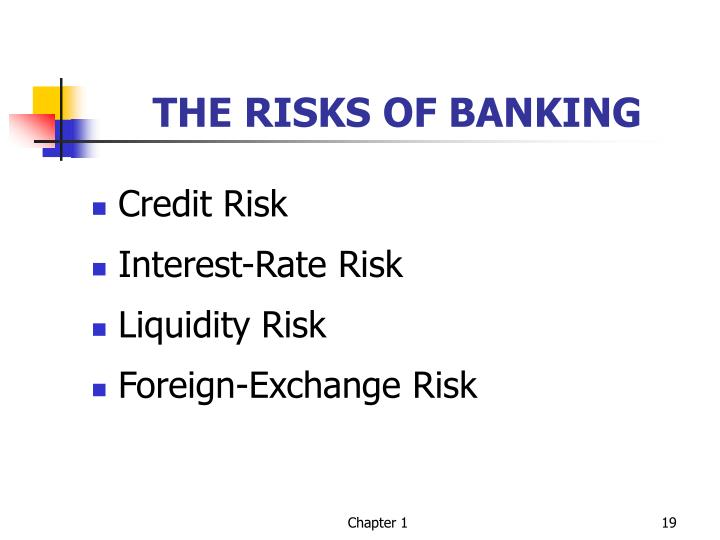THE RISKS OF BANKING