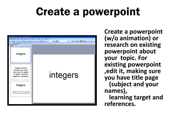 Create a powerpoint