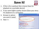 save it
