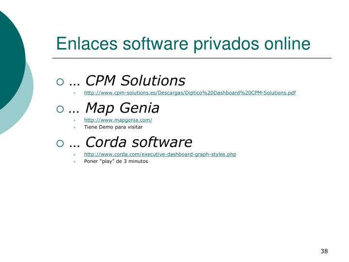 Enlaces software privados online