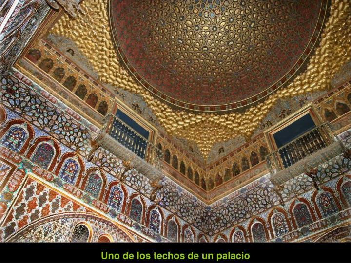 Uno de los techos de un palacio