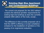 existing high rise apartment and condominium buildings1