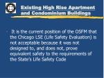 existing high rise apartment and condominium buildings4
