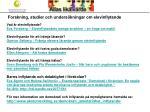 forskning studier och unders kningar om elevinflytande