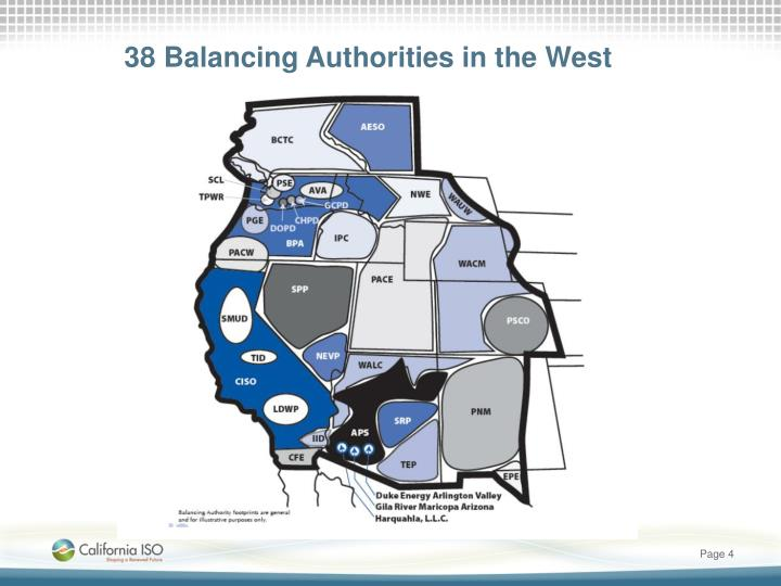 38 Balancing Authorities in the West