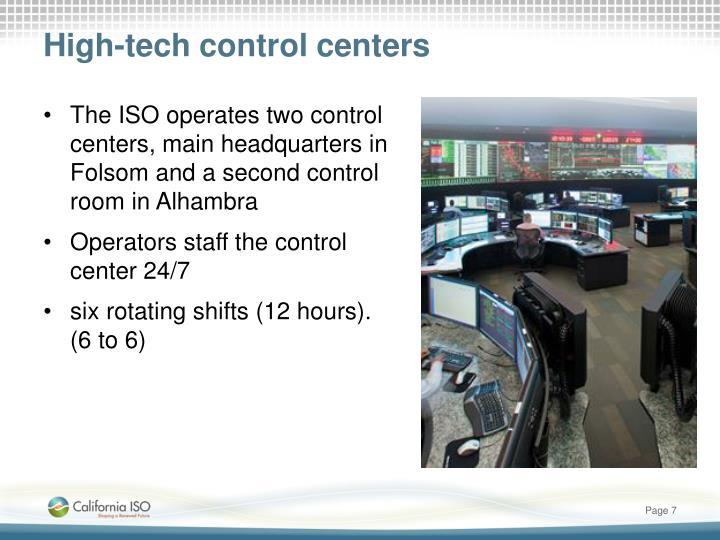 High-tech control centers