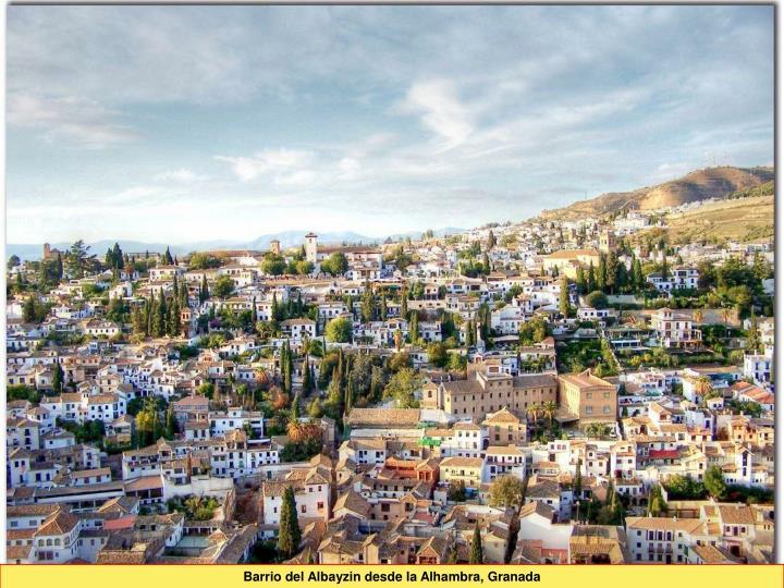 Barrio del Albayzin desde la Alhambra, Granada