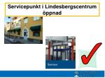 servicepunkt i lindesbergscentrum ppnad