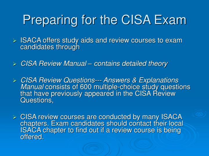Preparing for the CISA Exam