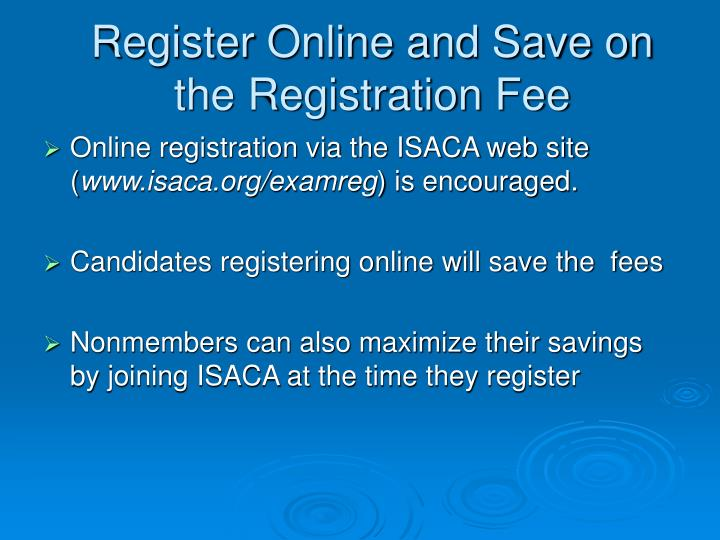 Register Online and Save on