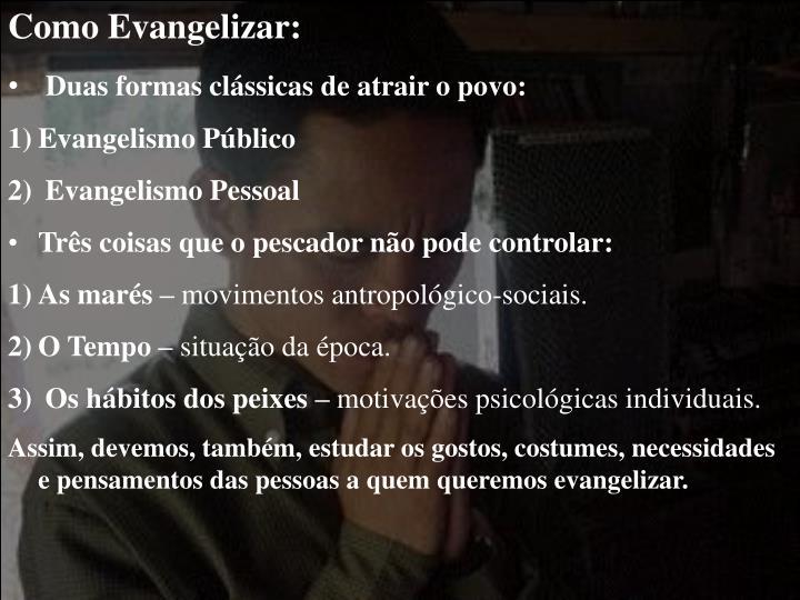 Como Evangelizar:
