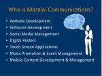 who is masalai communications