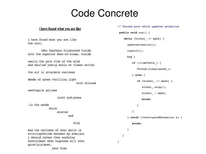 Code Concrete