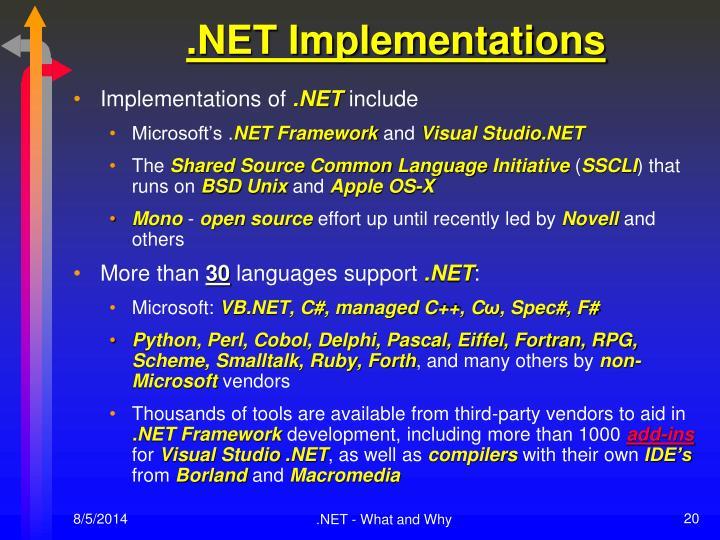 .NET Implementations