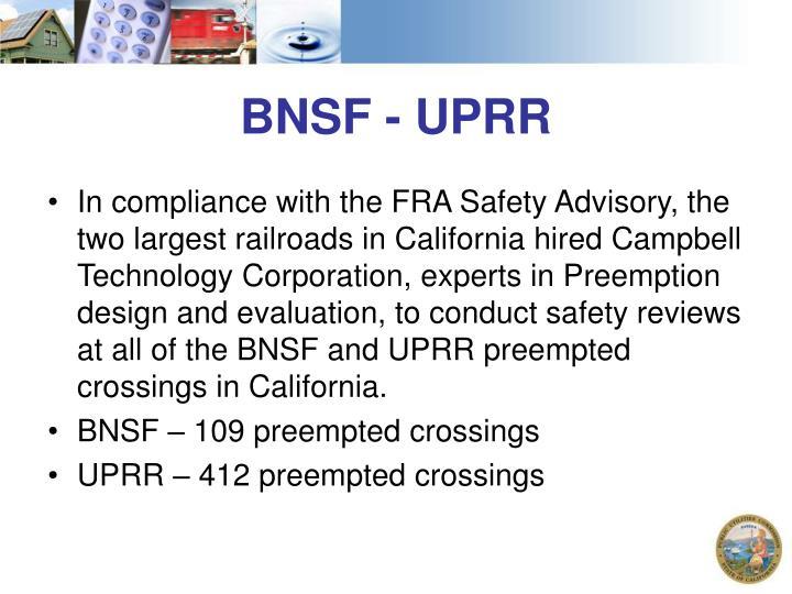 BNSF - UPRR
