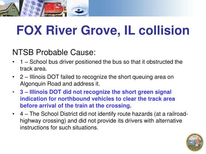 FOX River Grove, IL collision