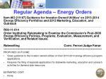 regular agenda energy orders3