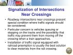 signalization of intersections near crossings