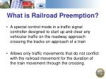 what is railroad preemption