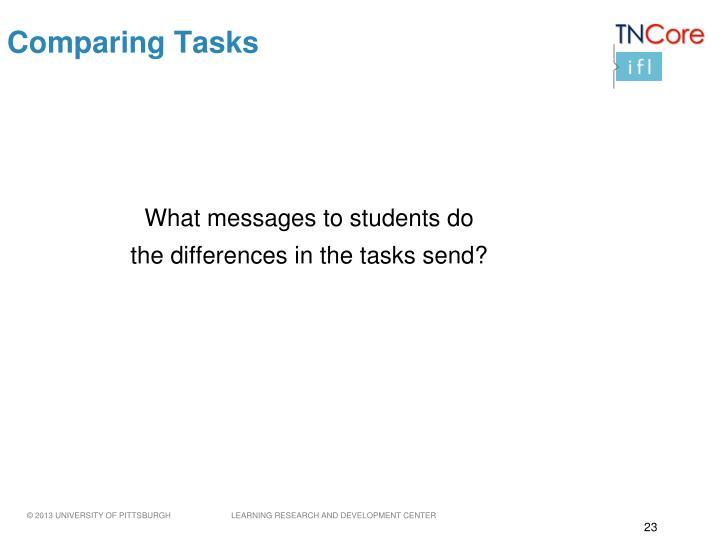 Comparing Tasks