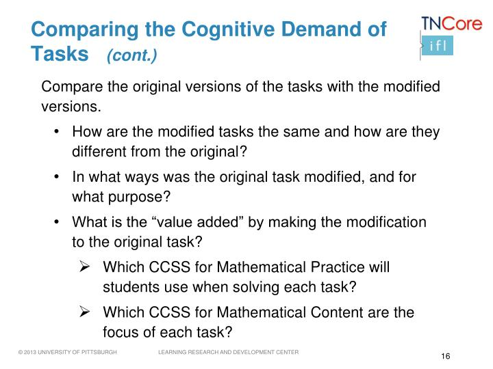 Comparing the Cognitive