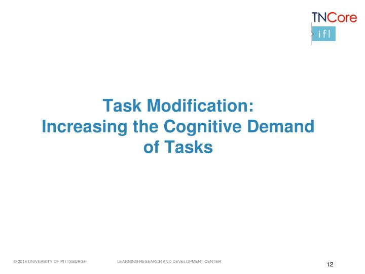 Task Modification: