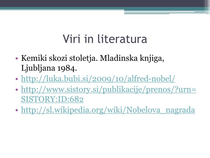 Viri in literatura
