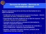 servicios de empleo servicios de intermediaci n laboral1