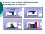 efectos de el ni o 97 98 en principales variables macroecon micas de los pa ses