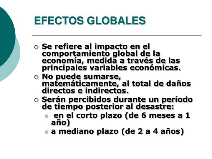 EFECTOS GLOBALES