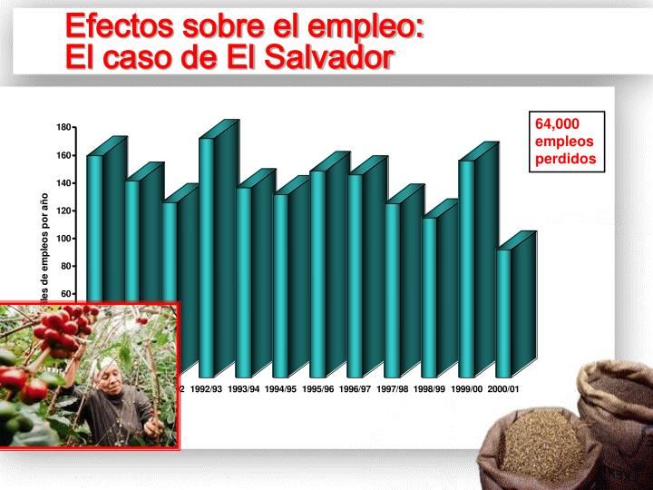 Efectos sobre el empleo: