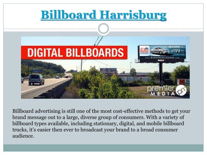 Billboard Harrisburg