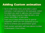 adding custom animation