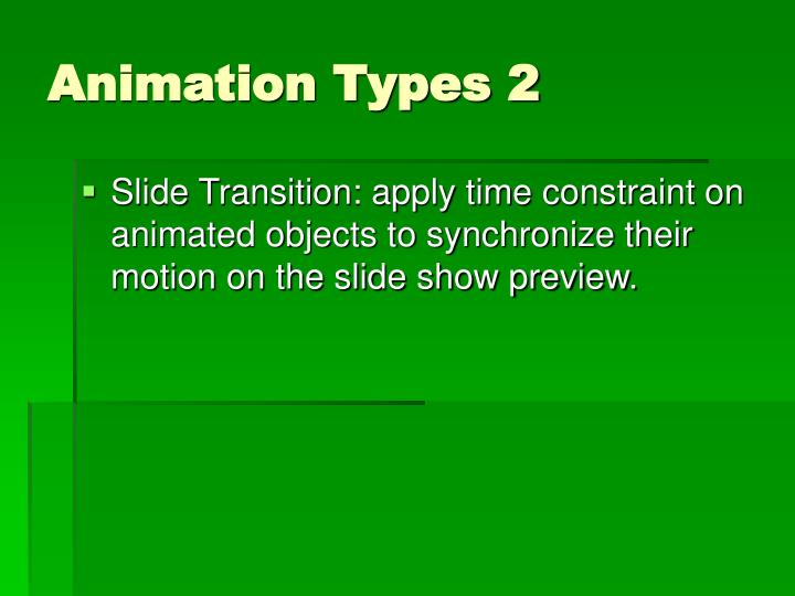Animation Types 2