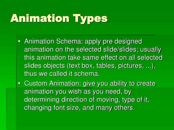 Animation Types