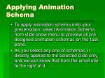 applying animation schema