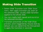 making slide transition