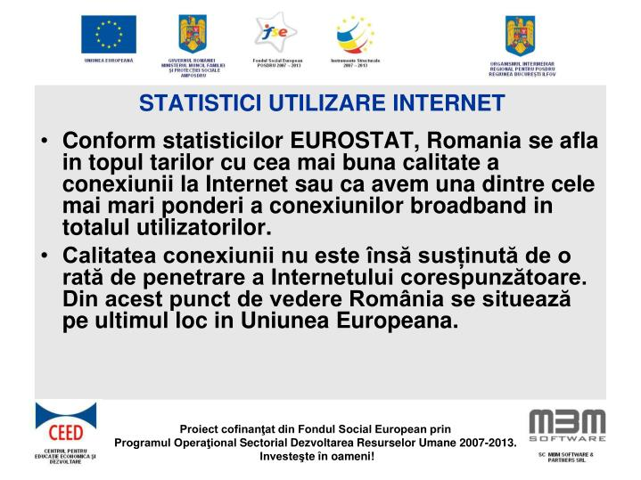 Statistici utilizare Internet