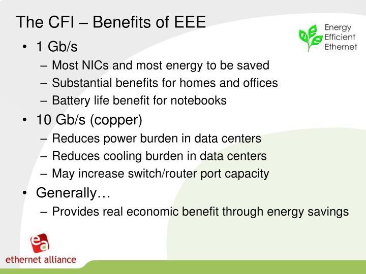 The CFI – Benefits of EEE